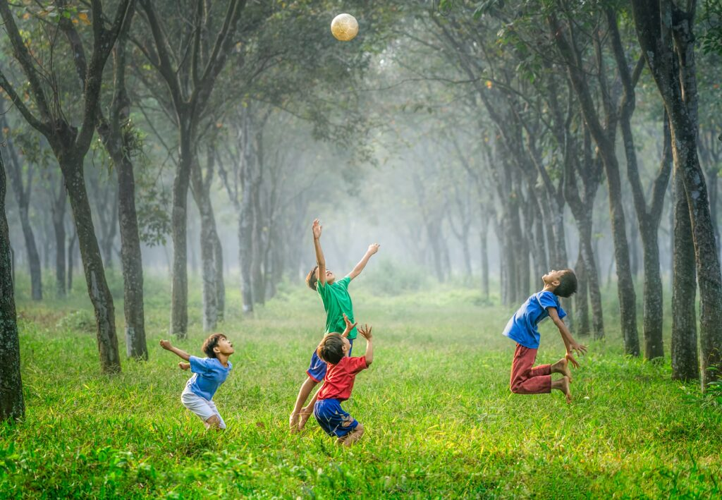 kids playing ball