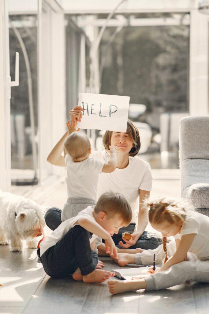 mom and kids stress