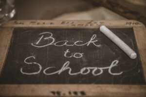 Back to School chalk