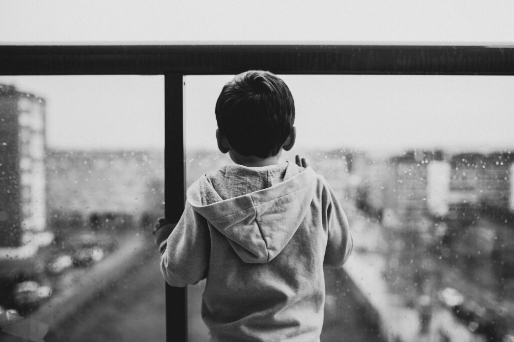 Child looking out